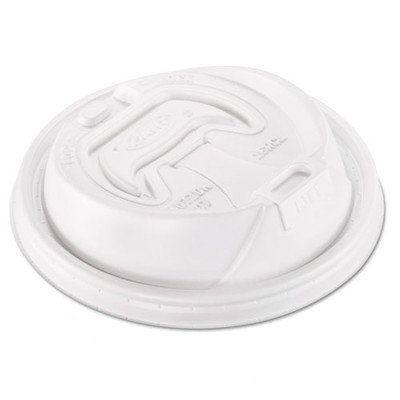 Dart Container Cup Lids Optima Hot, Fits 12-24oz Cups, White