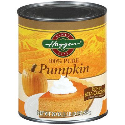 Haggen 100% Pure  Pumpkin 29 Oz Can