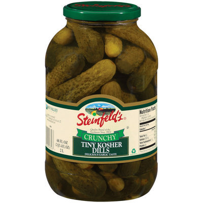 Steinfeld's Crunchy Tiny Kosher Dills Pickles 68 Oz Jar