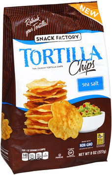 Snack Factory® Sea Salt Tortilla Chips 8 oz. Bag