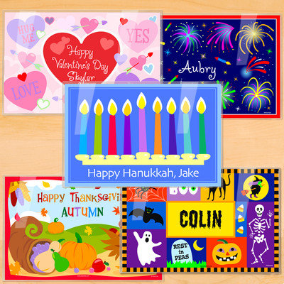 Olive Kids Holiday Five Pack Personalized Placemat