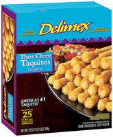 Delimex® Three Cheese Taquitos 25 ct. 25 oz. Box