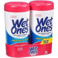 Wet Ones® Antibacterial Fresh Scent Hand Wipes 80 ct Pack