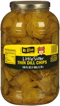 Mt. Olive® Little Sister Thin Dill Chips 128 fl. oz. Jar