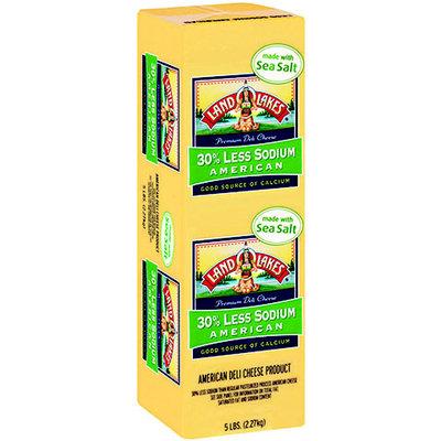 Land O'Lakes® Deli 30% Less Sodium American Yellow Made W/Sea Salt Cheese 5 Lb Loaf (919474)