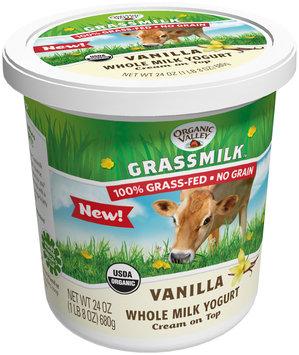 Organic Valley® Grassmilk™ Vanilla Whole Milk Yogurt 24 oz. Tub