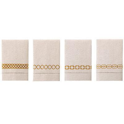D.l. Rhein Guest Towels (Set of 4) Color: Marigold