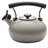 Circulon Contempo Teakettle 2-Quart Whistling Tea Kettle - Silver