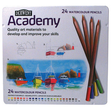 Derwent Academy Watercolour Pencils High-quality Pigments Assorted