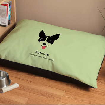 Checkerboard Personalized Life Is Better with Dog Dog Bed