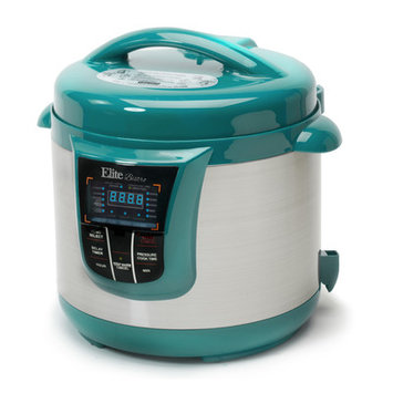 Elite By Maxi-matic Bistro 8 Qt. Electric Stainless Steel Pressure Cooker Color: Turquoise