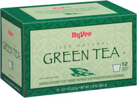 Hy-Vee® Single Serve Cup Green Tea 12 ct Box