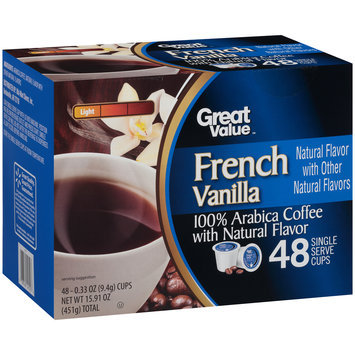 Great Value™ French Vanilla Light 100% Arabica Coffee 48-0.33 oz. Cups