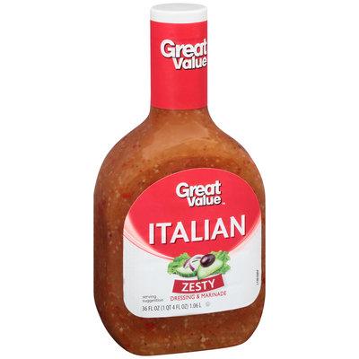 Great Value™ Zesty Italian Dressing & Marinade 36 fl. oz. Plastic Bottle