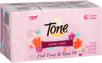 Tone® Petal Soft Pink Peony & Rose Oil Soap 6-4.25 oz. Bars