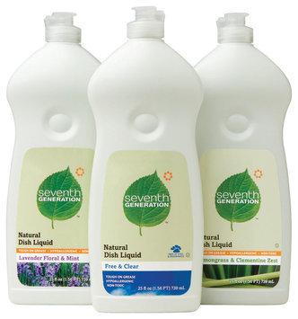 Seventh Generation Lavender Floral & Mint, Free & Clear, Lemongrass & Clementine Zest Group Dish Liquid   Bottles