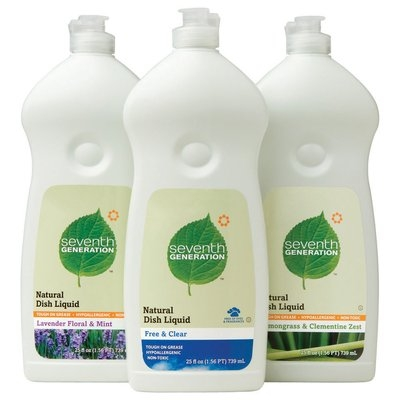 Seventh Generation Lavender Floral & Mint, Free & Clear, Lemongrass & Clementine Zest Group Dish Liquid   Bottles