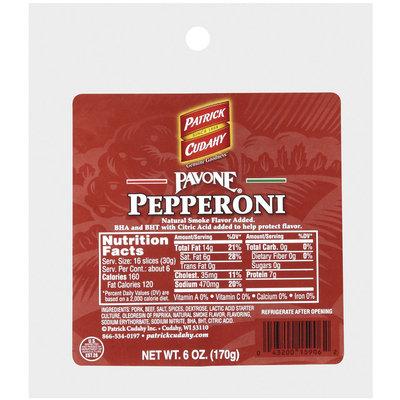 PATRICK CUDAHY Retail Pavone 6oz Pegs Pepperoni - Retail   PEG