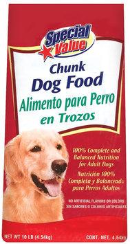 Special Value Chunk Dog Food 10 Lb Bag