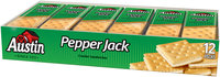 Austin Pepper Jack 1.38 Oz Packs Cracker Sandwiches 12 Ct Tray