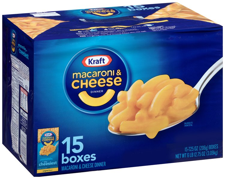 Kraft Original Flavor Macaroni & Cheese Dinner 15-7.25 oz. Boxes
