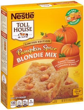 Nestlé TOLL HOUSE Pumpkin Spice Blondie Mix 19.125 oz. Box