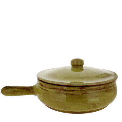 French Home Frying Pan with Lid Color: Saffron, Size: 5