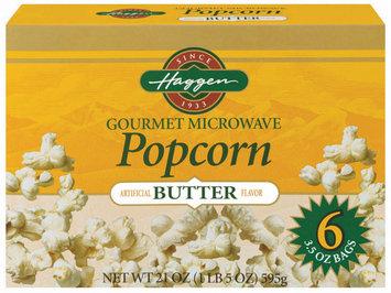 Haggen Butter Gourmet Microwave 6 Ct Popcorn 21 Oz Box