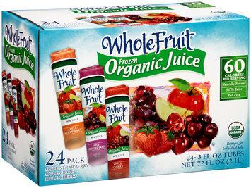 Whole Fruit® Apple-Strawberry/Apple-Grape/Apple-Cherry Frozen Organic Juice 24-3 fl. oz. Tubes