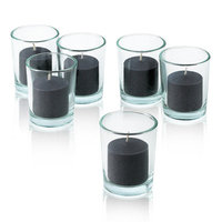 Light In The Dark Unscented Votive Candles (Set of 72) Color: Black