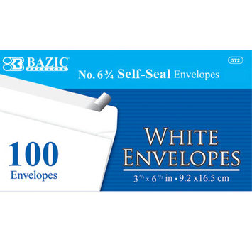 Bazic Peel and Seal White Envelope