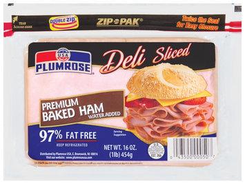 Plumrose Premium Baked Deli Sliced Ham 16 Oz Zip Pak