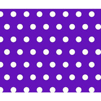 Stwd Polka Dots Crib/Toddler Fitted Sheet Color: Purple
