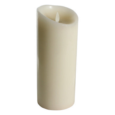 Luminara Vanilla Flameless Candle Color: Ivory, Size: 9