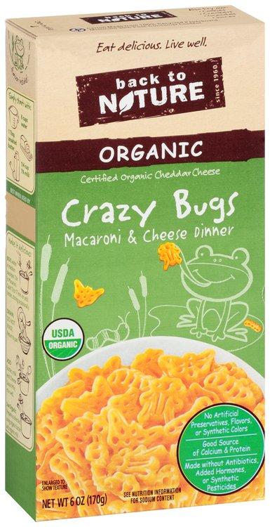 Back to Nature Organic Crazy Bugs Macaroni & Cheese Dinner 6 oz. Box