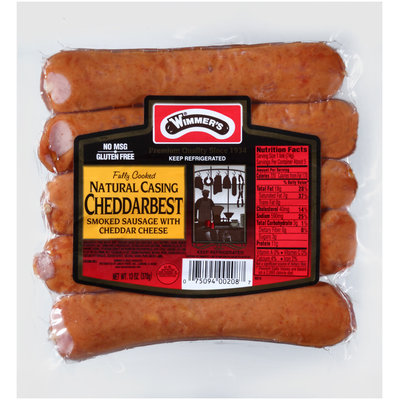 Wimmer's® Natural Casing Cheddar Best Smoked Sausage with Cheddar Cheese