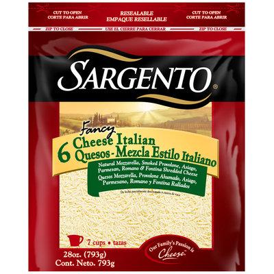 Sargento® Fancy 6 Cheese Italian Shredded Cheese 28 oz. Bag