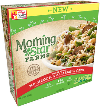 MorningStar Farms® Veggie Bowls Mushroom & Asparagus Orzo Veggie Entree 9 oz. Box