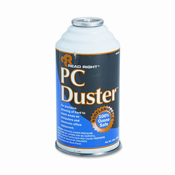 Read-Right REARR3509 PC Duster 2, Refill, Air Duster, Gas Refill, Ozone Safe, 10 Oz Can