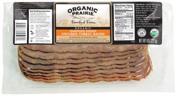 Organic Prairie Organic Turkey Hardwood Smoked Uncured Bacon  8 Oz Package