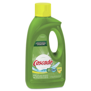 Cascade Lemon Scent Automatic Dishwashing Gel Liquid Cleaner with Bleach
