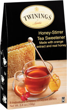 Twinings of London® Honey-Stirrer Tea Sweetener Made with Orange Extract and Real Honey 5.6 oz. Bag