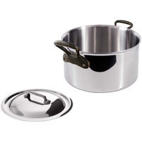 Mauviel M' Cook 5-Ply Cast Iron Handle Stewpan 1.9 qt With Lid