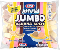 Jet-Puffed Jumbo Banana Split Marshmallows 20 oz. Bag