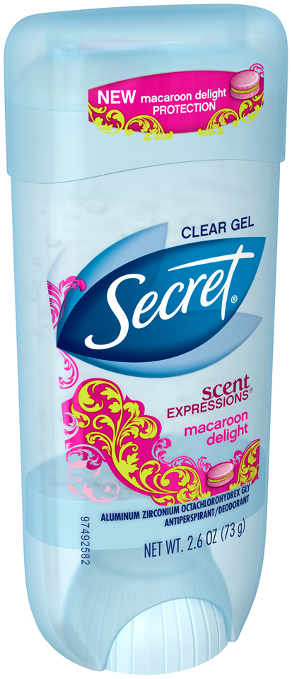 Secret Scent Expressions Clear Gel Macaroon Delight Antiperspirant/Deodorant