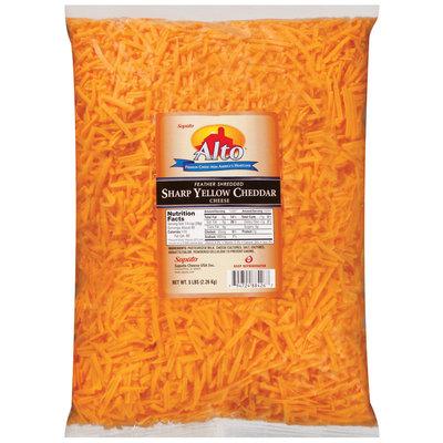 Alto® Feather Shredded Cheddar Sharp Yellow Cheese 5 Lb Bag