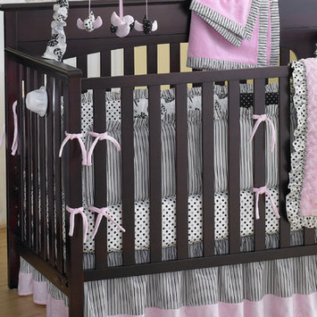 Laugh, Giggle & Smile Versailles Crib Bumper (Gray/Ivory/Black)