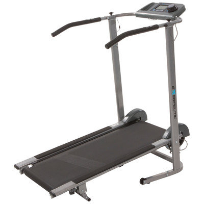 EXERPEUTIC 100XL High Capacity Magnetic Resistance Manual Treadmill with Heart Pulse System