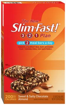 Slim-Fast 3-2-1 Meal Bars Sweet & Salty Chocolate Almond Meal Bar 12 Ct Carton