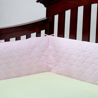 Ubimed Lifenest Breathable Padded Mesh Crib Bumper - Pink